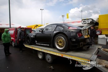 Drr BMW Z4 arrives on a platform truck