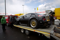 Dörr BMW Z4 arrives on a platform truck