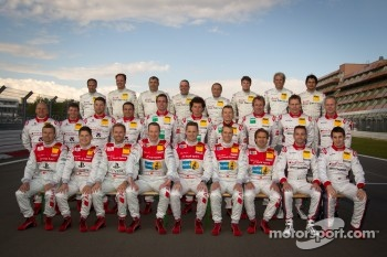 Audi Sport drivers photoshoot