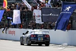 #123 Team GT Academy Nissan GT-R: Kazunori Yamauchi, Yasukichi Yamamoto, Tobias Schulze, Lucas Ordonez