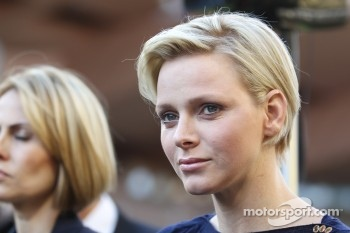 Princess Charlene of Monaco at the charity football match