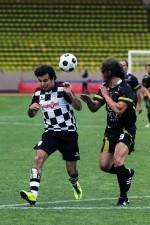 Sergio Perez, Sauber at the charity football match