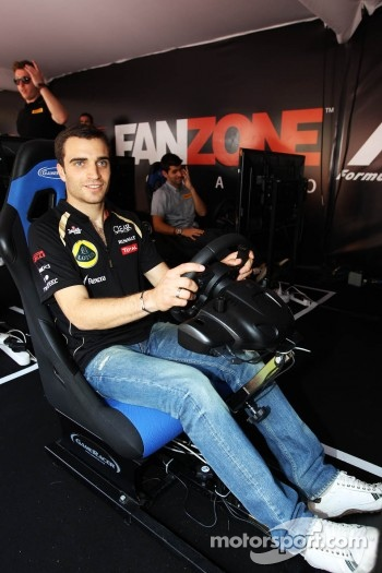 Jérôme d'Ambrosio, Lotus F1 Team Third Driver at the Fanzone