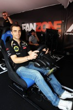 Jrme d'Ambrosio, Lotus F1 Team Third Driver at the Fanzone
