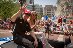 Indy 500 festival parade: pole winner Ryan Briscoe, Team Penske Chevrolet