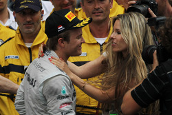 Nico Rosberg, Mercedes GP and his girlfriend Vivian Sibold