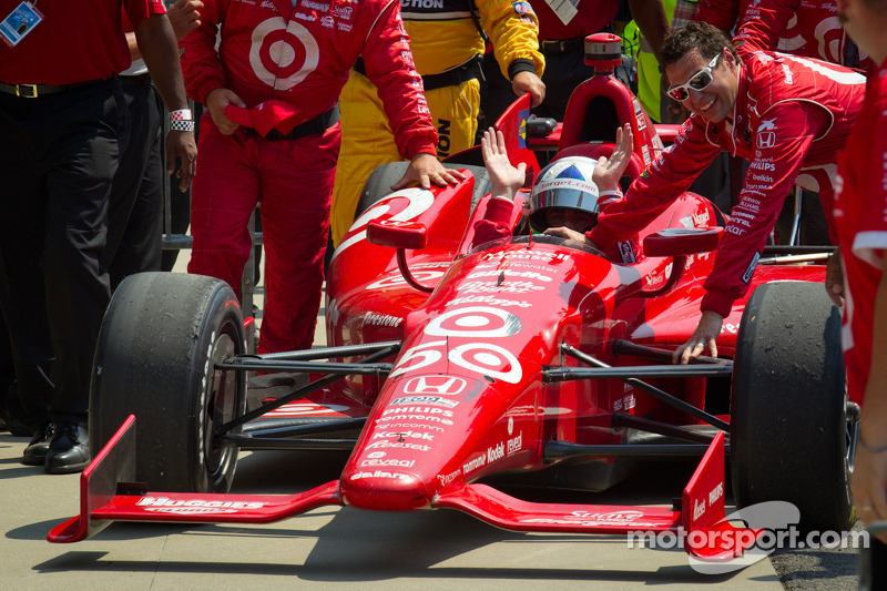 Victory circle: race winner Dario Franchitti, Target Chip Ganassi Racing Honda