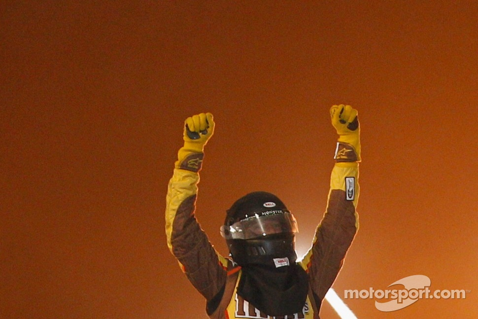 Victory lane: Kyle Busch celebrates