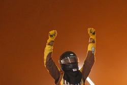 Victory lane: Kyle Busch celebrates