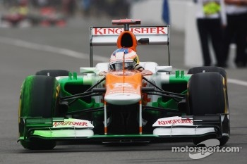 Paul di Resta, Sahara Force India running flow-vis paint