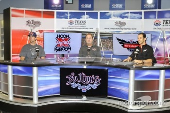 Travis Pastrana, Eddie Gossage and Helio Castroneves