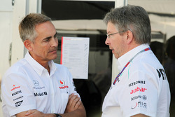 Martin Whitmarsh, McLaren Mercedes Chief Executive Officer with Ross Brawn, Mercedes AMG F1 Team Principal