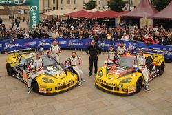 #70 Larbre Competition Chevrolet Corvette C6 ZR1: Christophe Bourret, Pascal Gibon, Jean-Philippe Belloc, #50 Larbre Competition Chevrolet Corvette C6 ZR1: Patrick Bornhauser, Julien Canal, Pedro Lamy