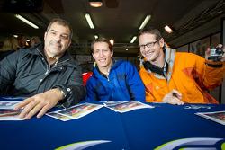 Autograph session: Pierre Ehret, Frankie Montecalvo and Gunnar Jeannette