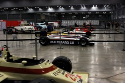 Lineup of Historic Grand Prix Formula 1 cars