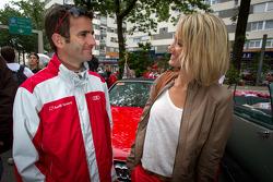 Romain Dumas with his wife