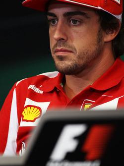 Fernando Alonso, Ferrari in the FIA Press Conference