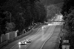 #4 Audi Sport North America Audi R18 Ultra: Oliver Jarvis, Marco Bonanomi, Mike Rockenfeller, #3 Audi Sport Team Joest Audi R18 Ultra: Marc Gene, Romain Dumas, Loic Duval