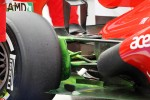 flow-vis paint on the Ferrari around the exhaust