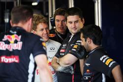 Sebastian Vettel, Red Bull Racing with his team