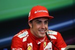 Race winner Fernando Alonso, Ferrari in the FIA Press Conference