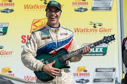 Joao Barbosa gets the winner's guitar