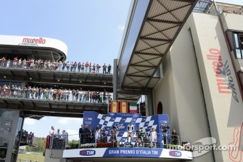 Podium: race winner Jorge Lorenzo, Yamaha Factory Racing, second place Dani Pedrosa, Repsol Honda Team, third place Andrea Dovizioso, Yamaha Tech 3