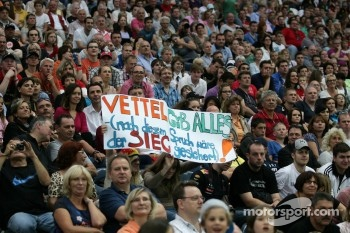 Fans of Sebastian Vettel