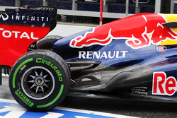Red Bull Racing engine cover and rear suspension and rear exhaust detail