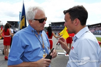 Charlie Whiting, FIA Delegate with Will Buxton, Speed TV Presenter on the grid