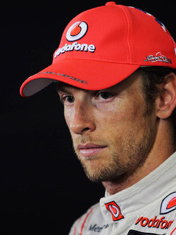 Jenson Button, McLaren ion the FIA Press Conference