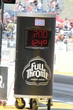Track temperature was 124 degrees during qualifying