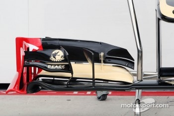 Lotus F1 E20 front wing detail