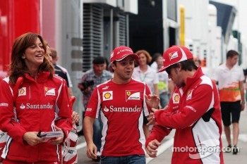Felipe Massa, Ferrari, and team mate Fernando Alonso, Ferrari
