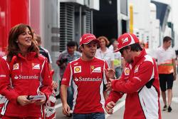 Felipe Massa, Ferrari, and team mate Fernando Alonso, Ferrari