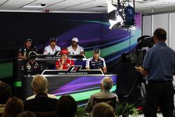 The FIA Press Conference, Caterham; Kamui Kobayashi, Sauber; Narain Karthikeyan, Hispania Racing F1 Team, Lotus F1 Team; Fernando Alonso, Ferrari; Pastor Maldonado, Williams