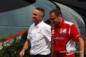 Martin Whitmarsh, McLaren Chief Executive Officer and Stefano Domenicali, Ferrari General Director