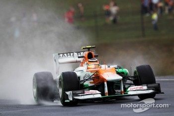 Nico Hulkenberg, Sahara Force India F1 in the wet