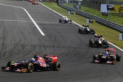 Daniel Ricciardo, Scuderia Toro Rosso leads team mate Jean-Eric Vergne, Scuderia Toro Rosso