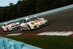# 73 Horton Autosport Porsche GT3 Cup: Eric Foss, Patrick Lindsey  -- # 57 Stevenson Motorsports Camaro GT.R: John Edwards, Robin Liddell