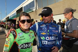 Danica Patrick and Alex Tagliani