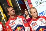 Podium: winner Sbastien Loeb, second place Mikko Hirvonen, Citron Total World Rally Team