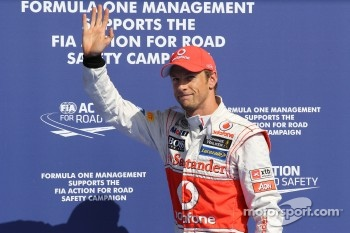 pole position for Jenson Button, McLaren Mercedes