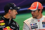 The FIA Press Conference, Red Bull Racing with Jenson Button, McLaren in the FIA Press Conference
