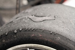 Rubber on tires