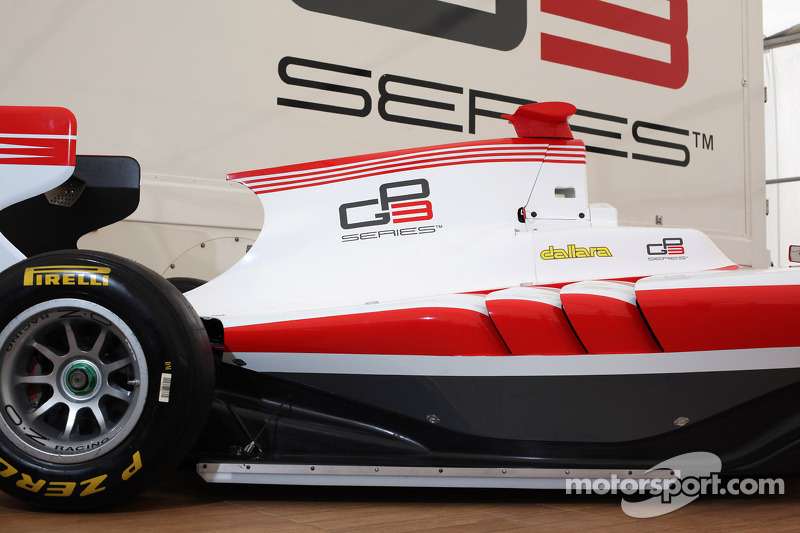Detail image of the new GP3-13 car