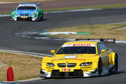Dirk Werner, BMW Team Schnitzer BMW M3 DTM leads Augusto Farfus Jr., BMW Team RBM BMW M3 DTM