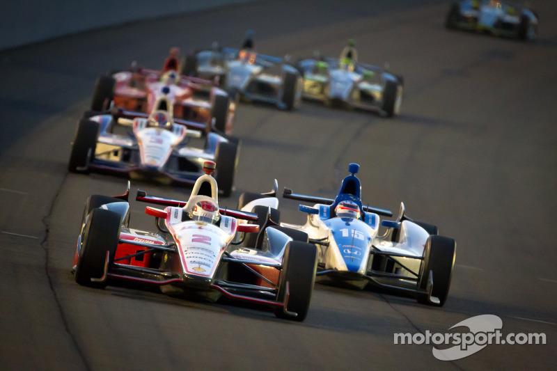 Ryan Briscoe, Team Penske Chevrolet, Takuma Sato, Rahal Letterman Lanigan Honda