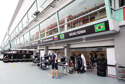 Williams pit garages