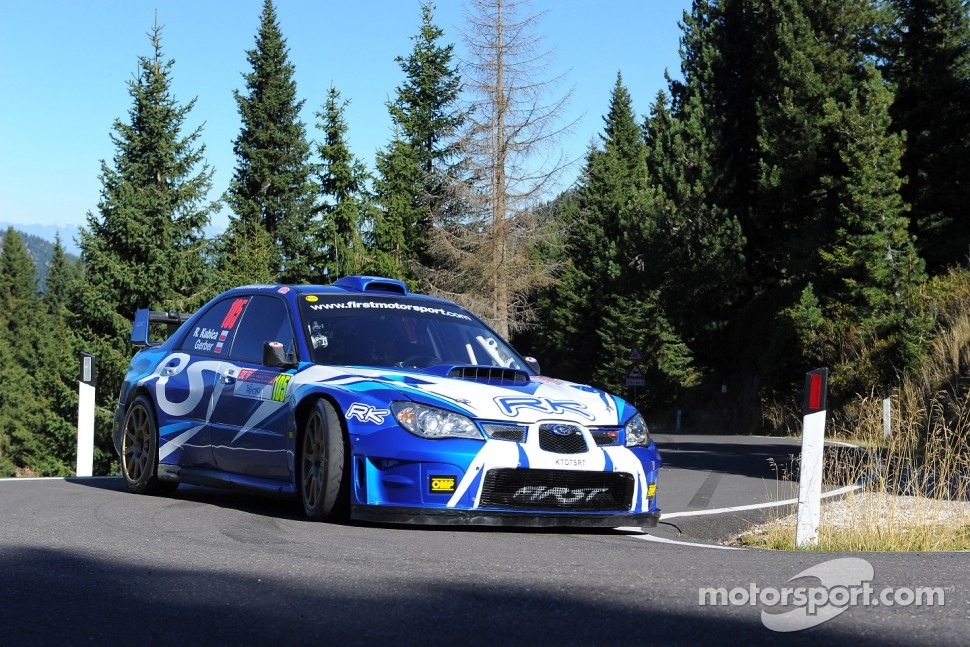 Robert Kubica, First Motorsport Subaru Impreza WRC at International Rally of San Martino di Castrozza